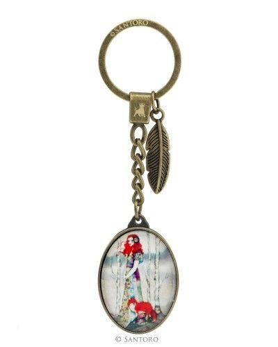 Metal & Glass Keyring - The Guide, Santoro's Willow