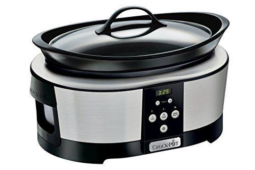 Crock-Pot® SCCPBPP605     Para 4-6 personas     Capacidad: 5,7l     Temporizador: sí, digital     Tapa: transparente     Olla: gres apto lavavajillas     Potencia: 75–210W