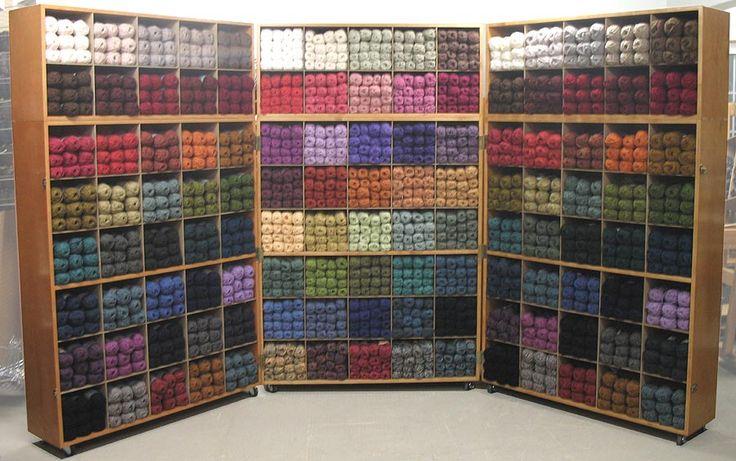 Yarn store display organization