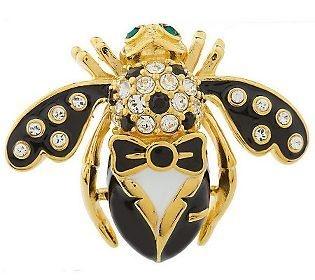 Joan Rivers Groom Tuxedo Bee Pin Brooch