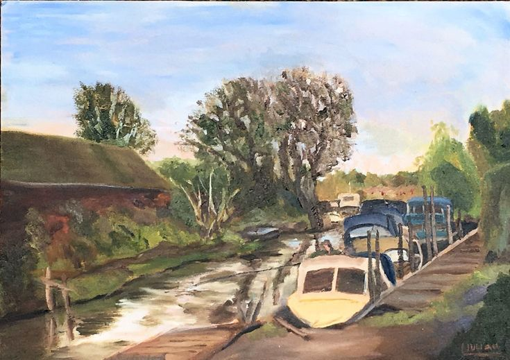 Buy A good day for Fishing - An original oil painting on board! Lovely Gift!, Oil painting by Julian Lovegrove Art on Artfinder. Discover thousands of other original paintings, prints, sculptures and photography from independent artists.