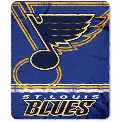 Northwest Co. NHL Blues Fade Away Fleece Throw