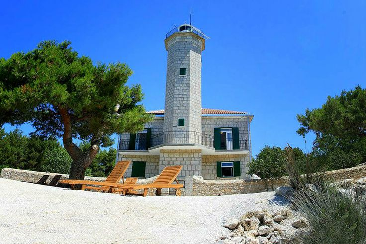 Villa Lanterna located on island of Vir, Croatia. Rent it on #Adriasoul | #Dalmatia #Croatia #Adria #Lighthouse #travel