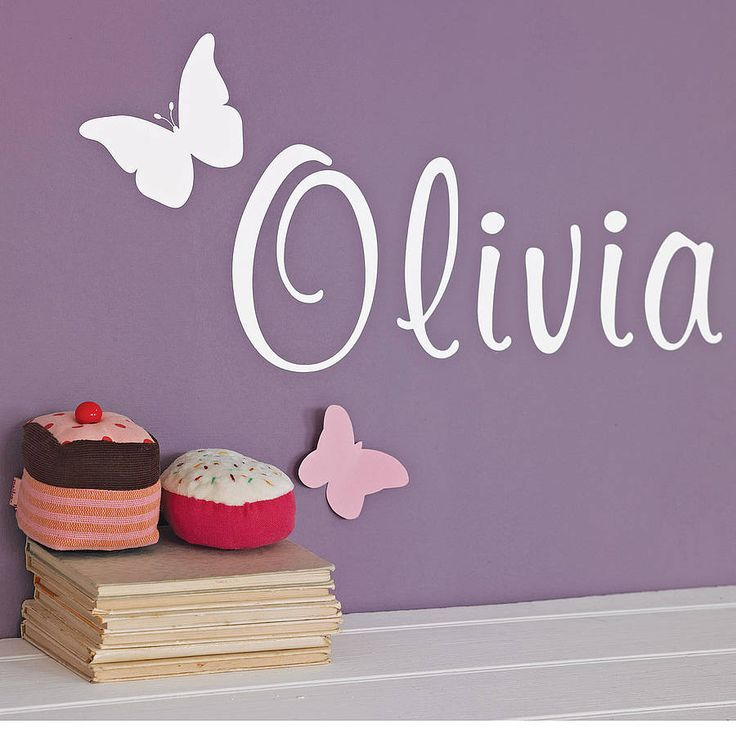 Captivating Personalised Butterfly Wall Sticker