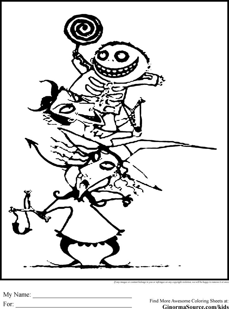 Nightmare Before Christmas Coloring Pages Gif 2459 215 3310 Tim Burton Coloring Pages
