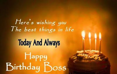 Happy Birthday Wishes to Boss