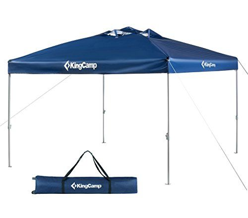 KingCamp 10 X 10 Feet Canopy Outdoor Sun Shelter Instant Folding Shade  Portable Collapsible With Roller