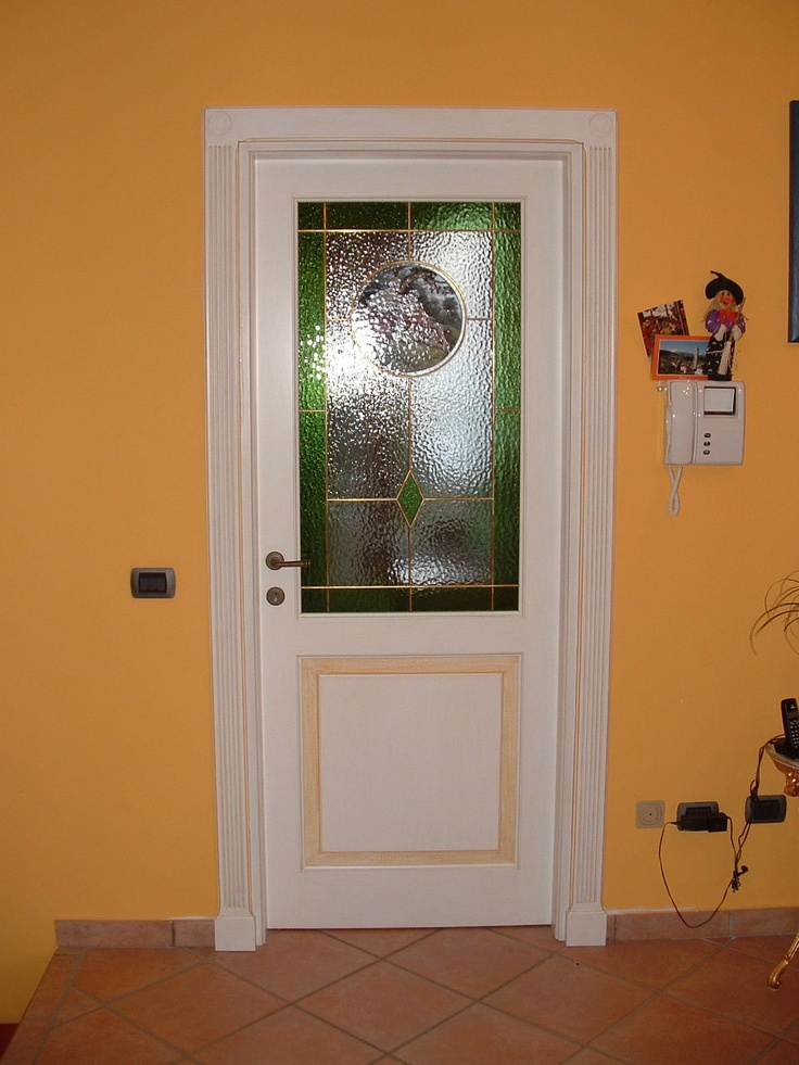 Porta interna con vetro rilegato a piombo