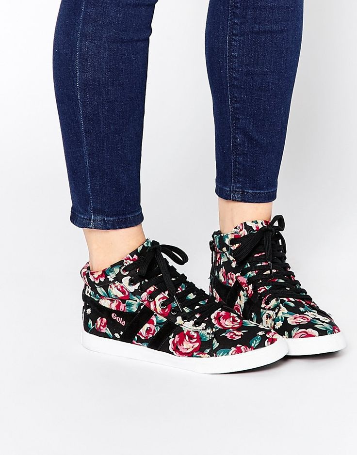 Gola Floral High Top Trainers