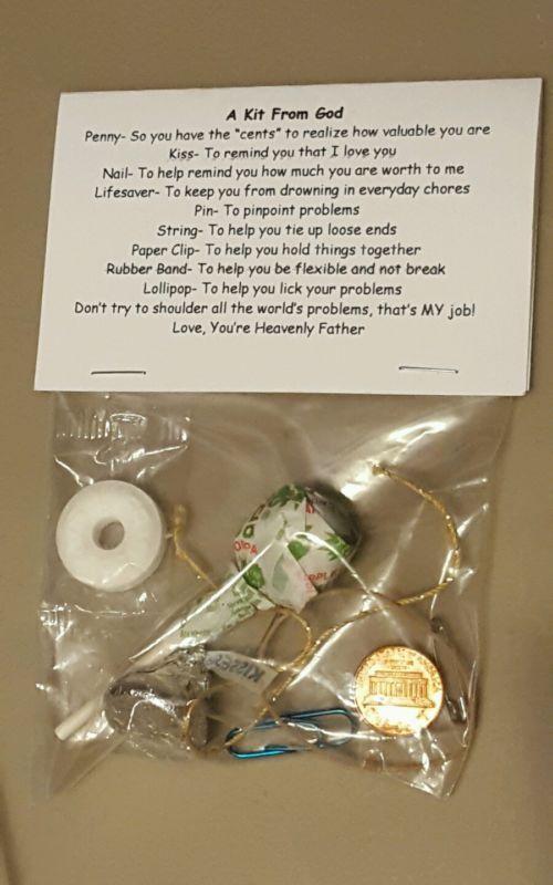 Kit from God ( Survival Kit ) * 9 items  inside - Spiritual /Novelty gift