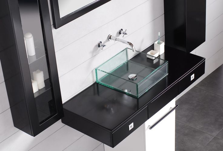 glass vessel sinks for bathroom