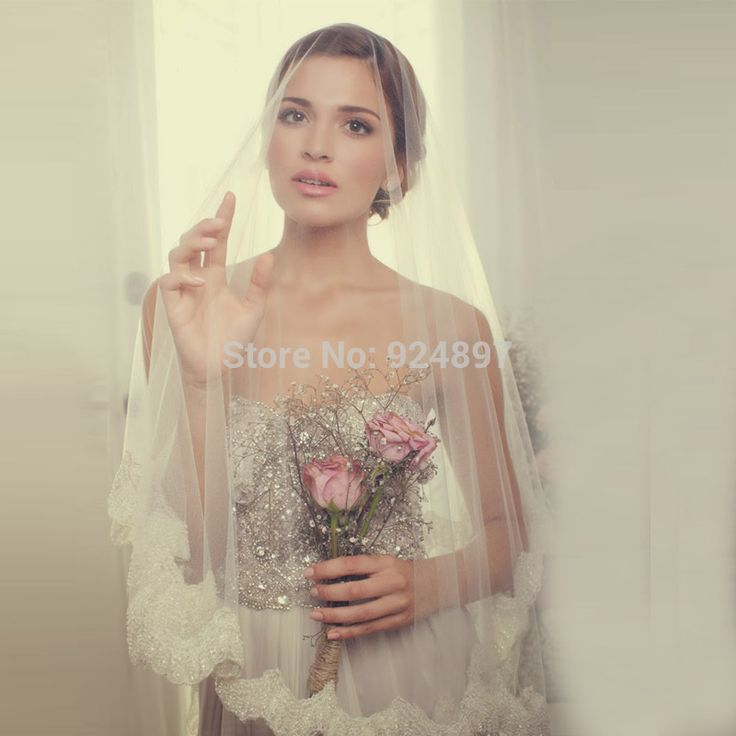 ==> [Free Shipping] Buy Best Latest Design Vintage short Wedding Veils Lace wedding Veils Beauty One Layer Beaded Wedding Accessories veli da sposa Online with LOWEST Price   32328994620