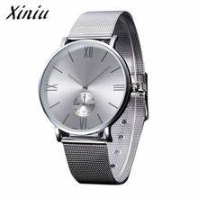 Xiniu Montre Hommes De Luxe Étanche Ultra Mince Date Horloge Mâle En Acier Sport Bracelet Montre À Quartz Hommes Montre-Bracelet # YB(China (Mainland))