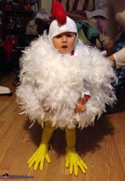 handmade baby chick cotumes | Chick Chick Chicken - Homemade costumes for babies