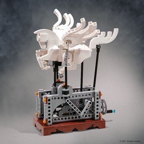 Moving LEGO sculpture