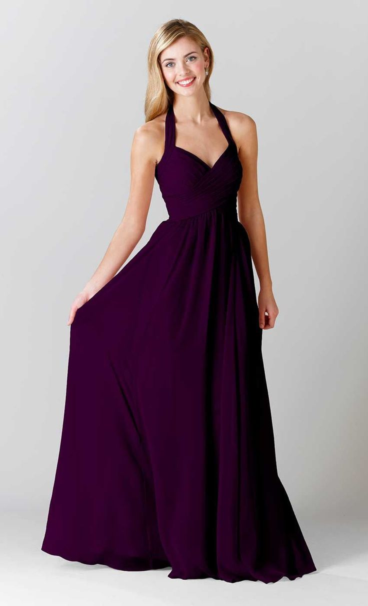 Best 25 eggplant bridesmaid dresses ideas on pinterest plum a long red bridesmaid dress with a halter neckline featured in claret kennedy ombrellifo Images
