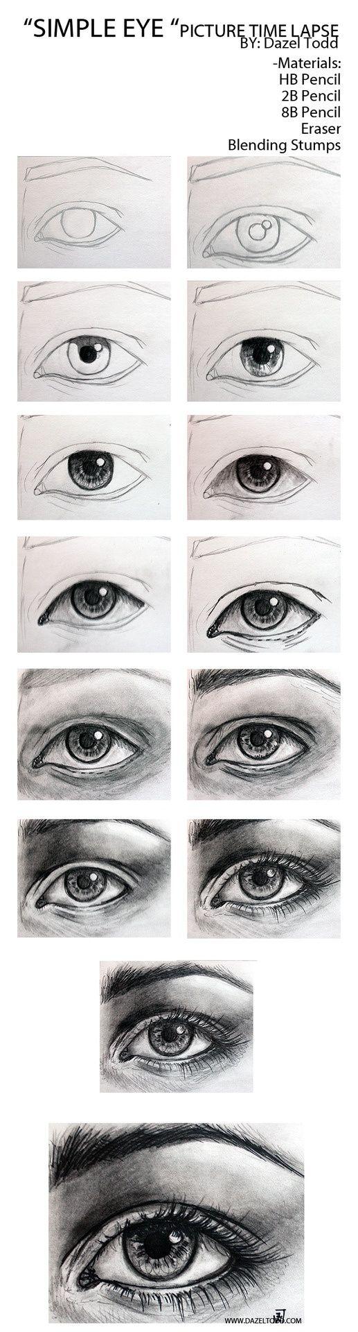 Augen zeichnen  Dazel Todd Sketch of eye tutorial, drawing tips.