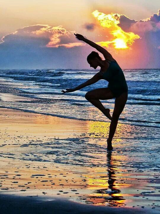 Stephanie Bussell at Sunrise, taken at Folly Beach, SC ~ Photo by Richard Calmes