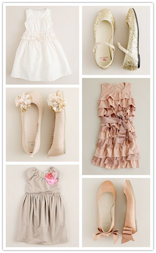 soft colors, ruffles, sparkles Adorable girl outfits