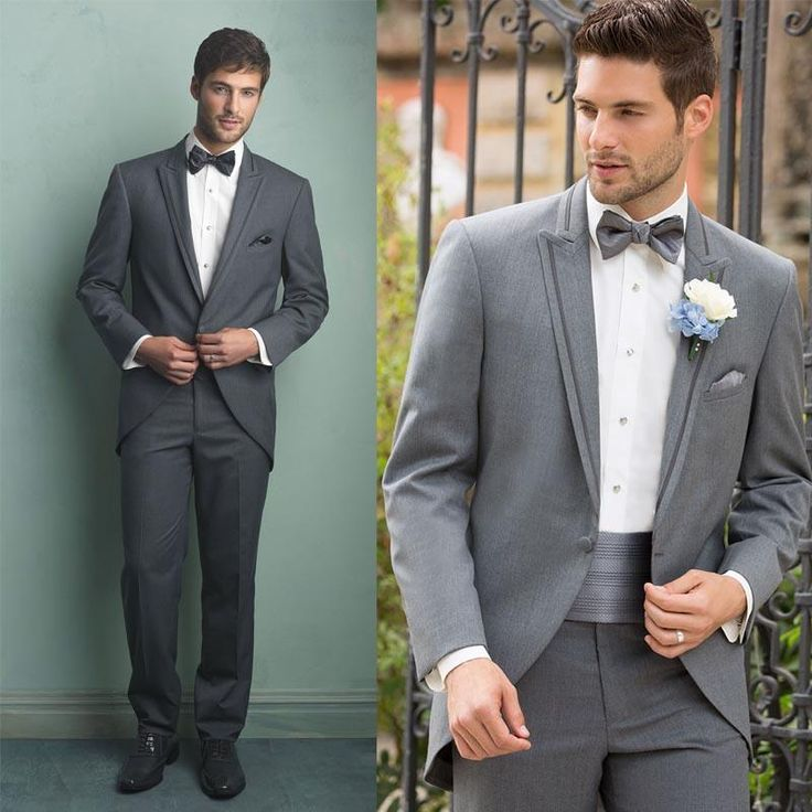 2015 Groom Tuxedos Slim Fit One Button Light Grey Notch Lapel Men Groomsmen Best Mens Wedding Suits BridegroomJacket+Pants Dhyz 01 Black Prom Tuxedos Cheap Tuxedos For Prom From Hua_yi_zhang, $183.25| Dhgate.Com