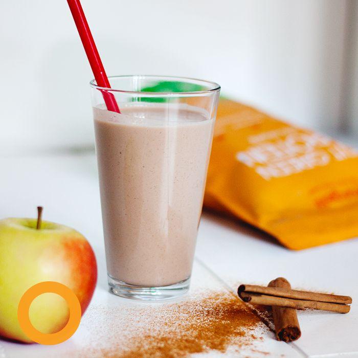 Warme appeltaart smoothie met plantaardige prote ne Ingredi nten - 1 appel in kleine stukjes - 200 ml soja yoghurt - 150 ml amandelmelk - 1 4 tl vanille extract