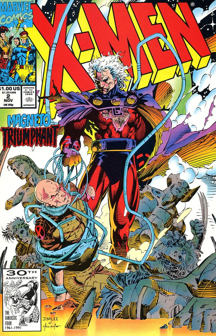 X-Men #2 by Jim Lee (this image and his splash page from X-Men #1 cemented Jim Lee's Magneto as being a force to be reckoned with)