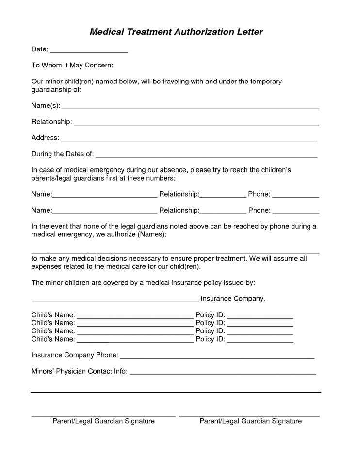 Medical Consent Forms Template  CityEsporaCo