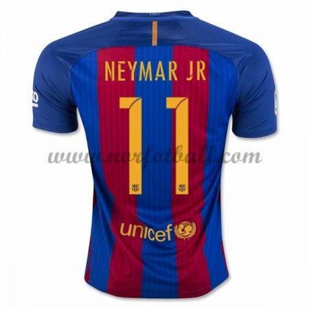 Billige Fotballdrakter Barcelona 2016-17 Neymar Jr 11 Hjemme Draktsett Kortermet