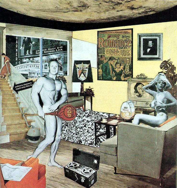 Pop: Pop Art, Richardhamilton, 1956, Collage, Popart, Richard Hamilton