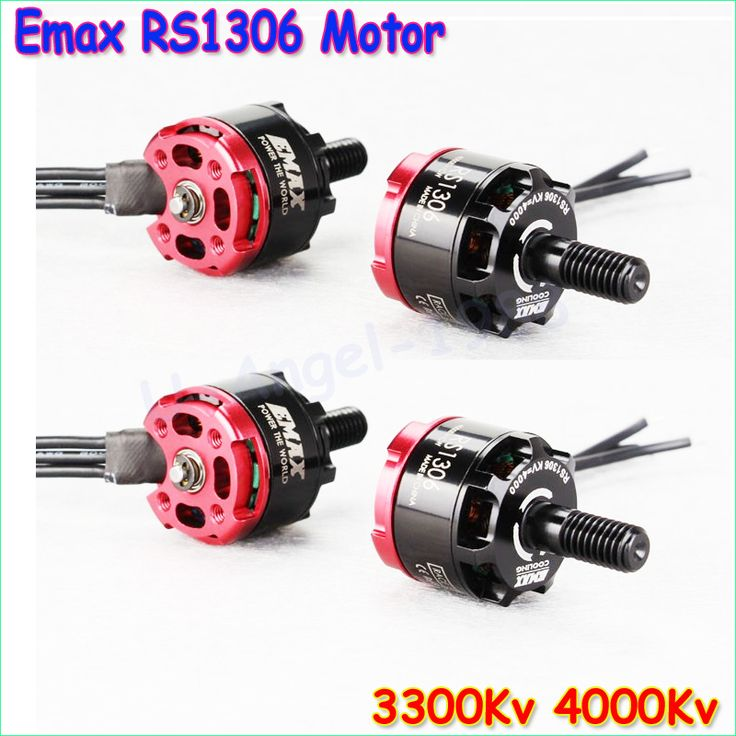 4set/lot Original Emax RS1306 3300KV/4000kv CW&CCW Brushless Motor for FPV Racing QAV130 QAV150 2CW 2CCW