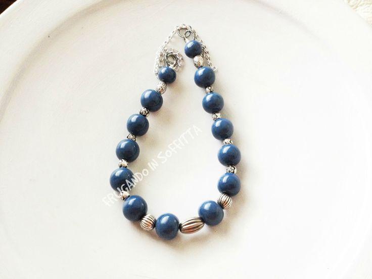 collana fatta a mano con perle in pasta gabrylea