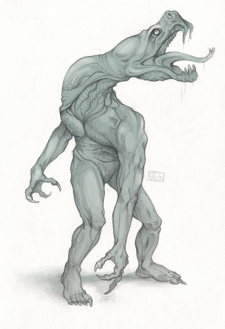 Eachy - Known from British and Scottish folklore, these slimy aquatic humanoids are often mistaken for sea serpents because of their vaguely snakelike body shape. Their existence was first recorded in the year 1873, and several scientific expeditions have been launched the find the beasts since then. They appear to be mildly venomous, a trait that they use to kill mid-sized prey.