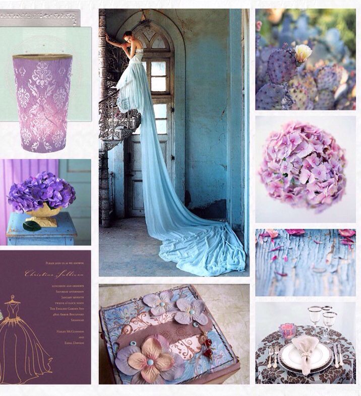 Lilac And Blue