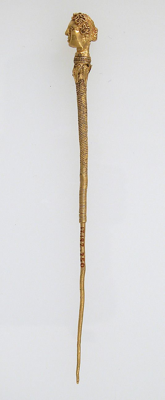 Hairpin Date: 3rd-4th century Geography: Made in, Northern France Culture: Late Roman Medium: Gold