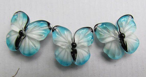 Lampwork butterfly bead handmade glass lampwork beads 1 pc