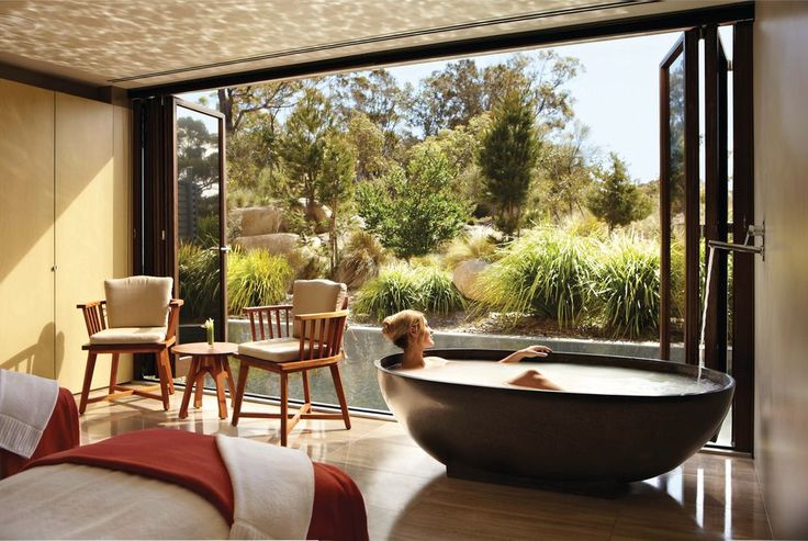 Take me away... the Saffire Freycinet in Tasmania, Australia is a heavenly luxury getaway. Limited to just 20 suites, locally made timber furniture and Egyptian cotton sheets are complemented by floor-to-ceiling views over the bush and onto the surrounding waters.