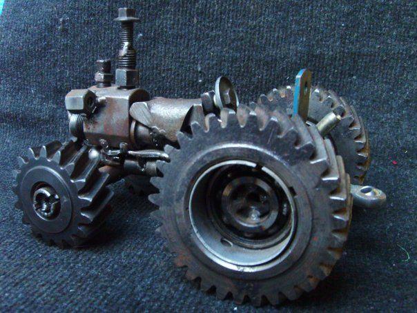 tractor para desarmar reciclado
