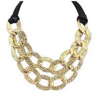 La moda de joyería collares para mujeres 2015 accesorios ahueca hacia fuera el collar punky del envío gratis