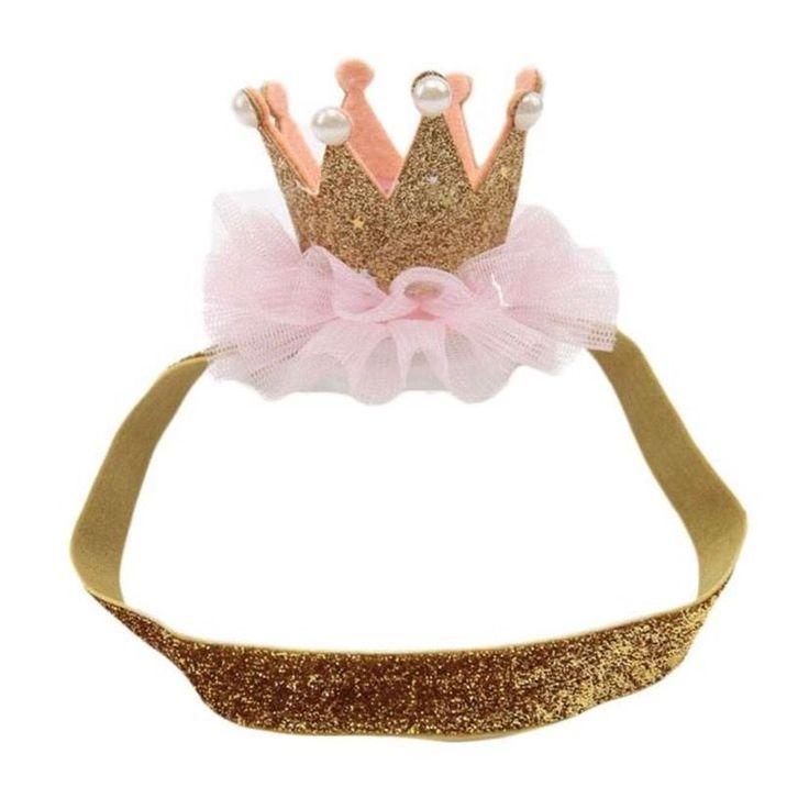 Girls Tiara Crown Head/hairband 1st Birthday Princess Props Cake smash Photo  | eBay