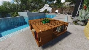 Plans and instructions of how to build a table with fruit boxes 6