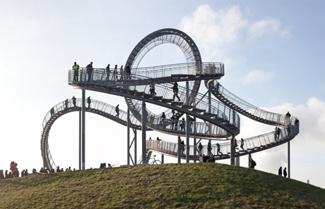 Tiger & Turtle - Magic Mountain overlooking the Rhine in Duisburg, Germany.