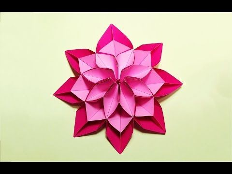 Easy and awesome origami star.  Оригами - звезда. Ideas for Christmas - YouTube