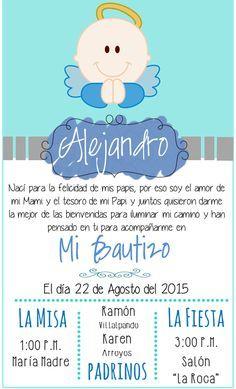 Inspirate con esta preciosa tarjeta para la celebración de bautizo de tu hijo. #bautizo #invitación