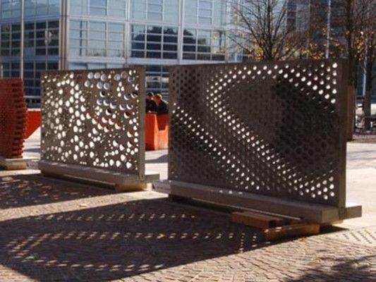 Perforated Concrete Wall by Gramazio & Kohler Architecture and Urbanism « Landezine | Landscape Architecture Works