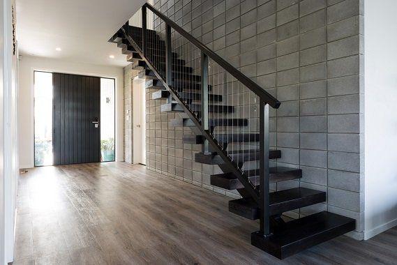 Steel Stair 31- Floating steel feature stair in Auckland