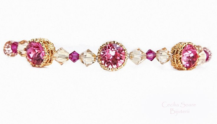 beautiful handmade crystal bracelet