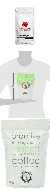 Coffee Bean Direct Dark Kenya AA, Whole Bean Coffee, 16-Ounce Bags (Pack of 3)