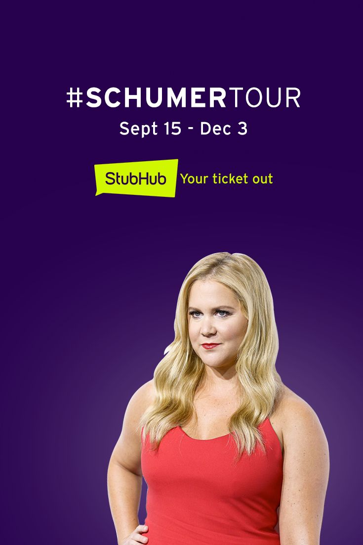 Amy Schumer is going on tour. Get your tickets now!