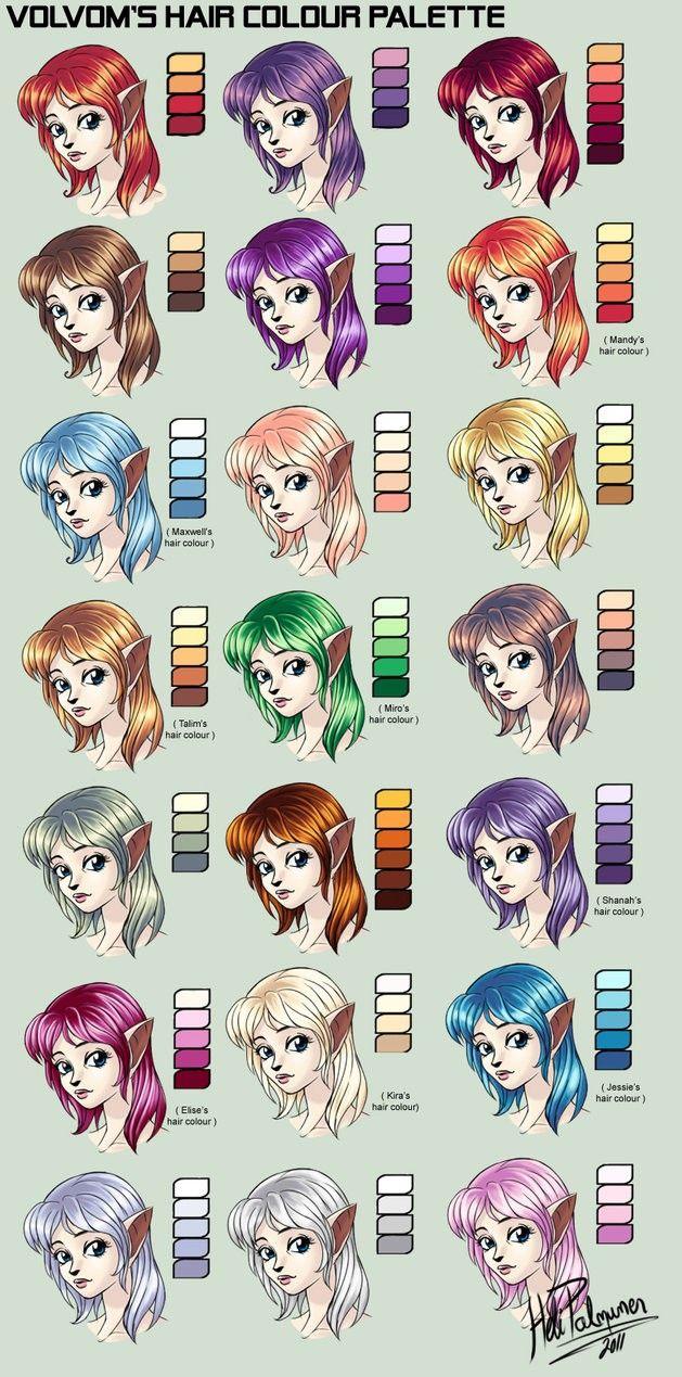 Pin By Eva Reynolds On Deviantart Color Ref Skin Color Palette Anime Hair Color Palette Art