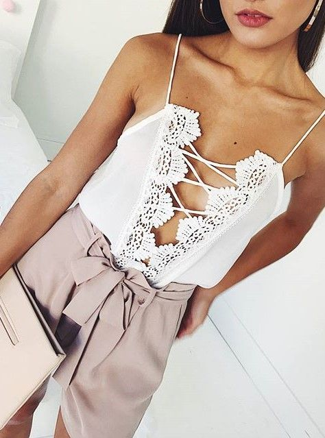 Laced tops are a must have!